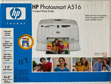 HP Photosmart A516 Compact Digital Photo Inkjet Printer - New In Box