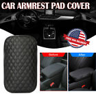 Universal Car Armrest Pad Cover Pu Leather Center Console Box Cushion Protector