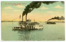 "c1910 St. Louis Missouri City Harber Steamboat ""Mark Twain"""