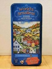 """Bonnie White World's Smallest 1000 Piece Puzzles-Tin Box """"Colors of Fall"""""""