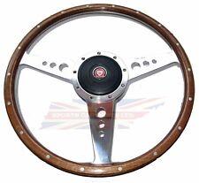 "New 13"" Wood Steering Wheel w/ Adaptor Hub Jaguar XKE E-Type Moto-Lita"