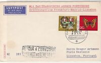 Germany 1963 Airmail to Portugal Return to Sender Cancel Stamps Cover ref 22735