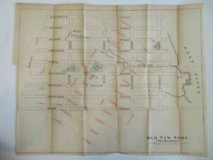 New York City The Bowery historical street plan 1862 Hayward large Winthrop map