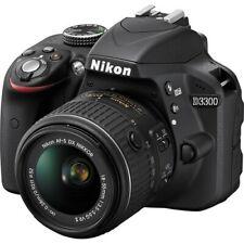 Nikon D D3300 24.2MP Digital SLR Camera - Black (Kit w/ AF-S DX VR II 18-55mm)