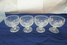 WEBB CORBETT CRYSTAL GOBLETS SHERBET GLASSES SET 4 THUMBPRINT WEC19 CUT GLASS