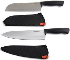 2-Piece Stainless Steel Santoku Damascus Chef Kitchen Knife Set Knives
