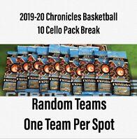2019-20 Panini Chronicles Basketball - 10 Cello Fat Pack Live Random Team Break