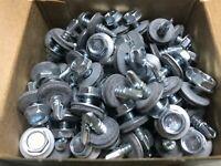 "100 PC Zinc Self-Drilling 3/4"" Neoprene Washer Screws Size 10 - 16"