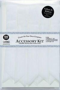 Gartner Studios VELLUM & RIBBON Accessory Kit - 50 count - WHITE