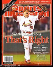 Sports Illustrated 2006 St. Louis Cardinals David Eckstein Newsstand Issue VGOOD