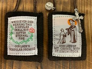 Regal Brown Scapular, 100% Wool, Comes with Enrollment Papers