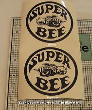 Super Bee Decals Quarter Set Pair Left Right 1968 1969 1970 Matte Black 0097