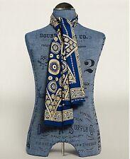 RRL Ralph Lauren Vintage Inspired Pre-washed Bandanna Star Indigo Cotton Scarf