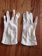 Women's Vintage Ivory Gloves Wrist Nylon Eyelet Detail