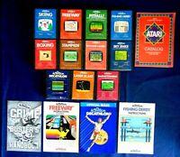 Atari 2600 Game Cartridge Lot Of 16 All Activision Pitfall Boxing Skiing Kaboom!