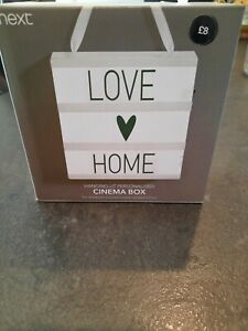BRAND NEW Cinema LightBox By NEXT Personalise Your Own Messages Home Decor