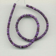 """SOUTH AFRICAN SUGILITE RONDELLE BEADS - 17.5"""" Strand - 369D"""