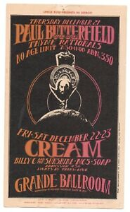 Original Paul Butterfield Cream Grande Ballroom Postcard MC5 Gary Grimshaw #15