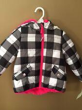 Girls 24 Months Carters Black White Pink Winter Jacket...