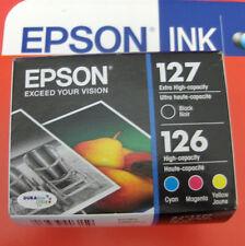 4pk Epson GENUINE 127 Black & 126 Color Ink_T127120-BCS_WorkForce 630 633 635