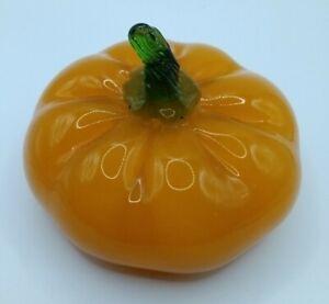Vintage Murano Style Art Glass Pumpkin Fall Vegetables