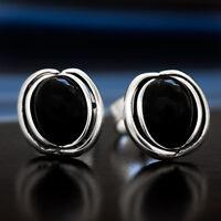 Onyx Silber 925 Ohrringe Damen Schmuck Sterlingsilber S0525