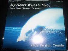 Deja Vu feat. Tasmin ‎– My Heart Will Go On Australian CD Single – Like New