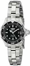 Invicta Women's Pro Diver 200m Black Dial Silver Tone Stainless Steel Watch 8939