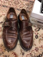 Men's Vintage 8 Belmondo Brown Leather Dress Shoe Buckle 35072 Cyclone Ross Monk