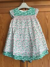 Mini Boden Pretty Floral Summer Dress With Smocking 2-3 Years £28 Baby Girls