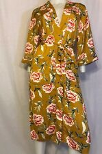 NEW MUSTARD FLORAL LONG ROBE CARDIGAN SEXY URBAN RETRO HIPPIE GYPSY BOHO S