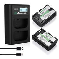 LP-E6 Battery + Dual USB LCD Charger for Canon EOS 5D Mark III II 6D 7D 70D 60D