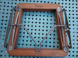 Vintage Dunlop Wooden Tennis Racket Head Press Clamp