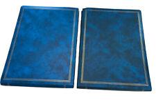 "Mid century Modern NEW Vintage Pioneer Blue Photo Album Set of 2 / 12.5""x 16.5"""