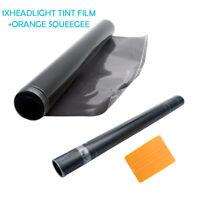 30 x 100cm Black Smoke Headlight Tinting Film Fog Tail Lights Tint Car Van Wrap