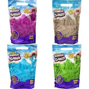 Kinetic Sand The Original Moldable Sensory Play Sand, Pink, Green, Blue,2 Pounds