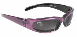 Damen Motorrad Sonnen Brille Chix Rally Purple mit Polster Lila getönt