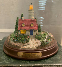 """Thomas Kinkade Lighted Lighthouse """"Clearing Storm"""" Used in box with Coa"""