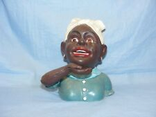 Jolly Woman Money Bank Cast Iron Mechanical Money Box Collectable With Americana