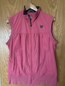 LYLE & SCOTT WOMENS GOLF PINK GILET IN LARGE NICE CONDITION