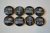 "The Thin Blue Line Back the lives matter Pin Pinback Button 1"" Badge pro police"