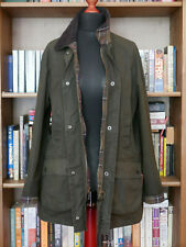 £199 Ladies Barbour Beadnell olive green waxed jacket size UK 16 US 12 EU 42