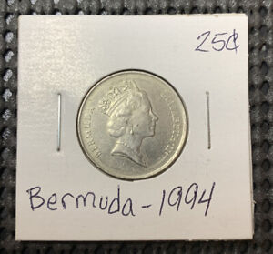 Bermuda 25 Cents 1994, White-tailed tropicbird, Bird coin