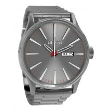 Nixon Sentry SS Smoke-Tone Dial Stainless Steel Quartz Men's Watch A356-131