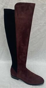 BNIB Clarks Pure Caddy Burgundy Suede and Elastic Over The Knee Boots