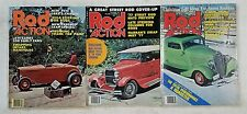 Street Rod Action Magazine 1977 - Lot of 3 -  Hot Rods & Customs