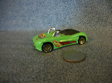 Hot Wheels Mattel 1995 Green Power Pipes Sports Car Made in Malaysia