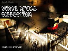 Vinyl Drums Collection - .wav Samples - Download - Kicks Snares Percussion Kits