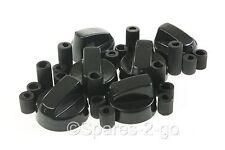 6 X Fagor & Dietrich  Cooker Oven Hob Black CONTROL KNOBS & ADAPTORS