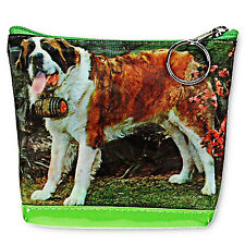 3D Lenticular Universal Purse Bag Saint St Bernard Dog Barrel #RC-624-PAVIA#